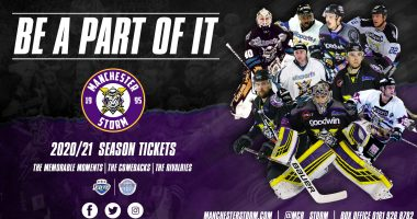 Your Goodwin Group sponsored Manchester Storm announce the launch of the 2020/21 Season Tickets!