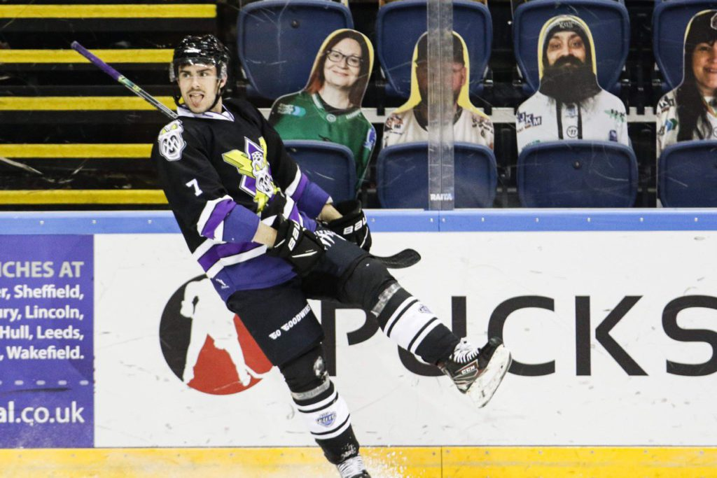 Maxime Fortier scores hat trick for Manchester Storm