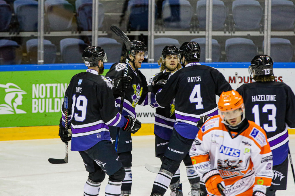 Scott Simmonds Scores for Manchester Storm against Sheffield Steelers